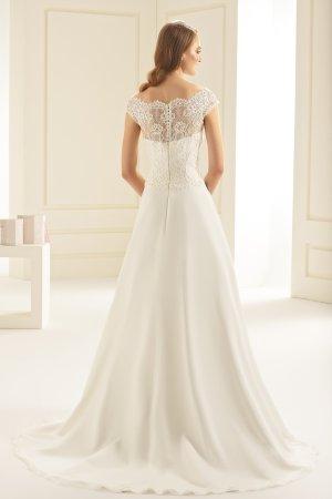 Brautkleid Hochzeitskleid Chiffon und Spitze - ivory Gr. 38 NEU mit Etikett