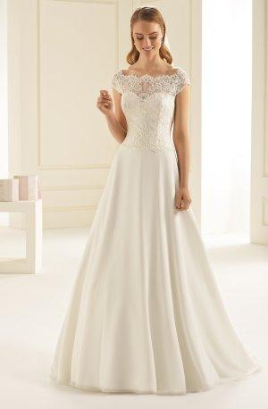 Brautkleid Hochzeitskleid Chiffon und Spitze - ivory Gr. 40 NEU mit Etikett