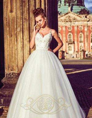 Brautkleid Hochzeitskleid Ivory 36/38 M mit Perlen & Pailetten