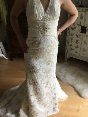 Brautkleid Hochzeitskleid Meerjungfrau Perlen Spitze Traumkleid Schleppe