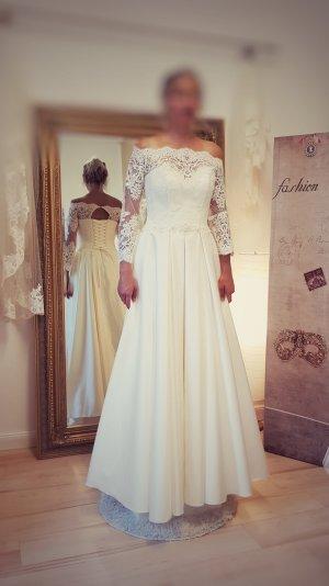 Brautkleid Hochzeitskleid mit festem Satin Rock - neu- Gr. 36/38