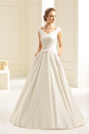 Brautkleid Hochzeitskleid mit Taschen Mikado - ivory Gr. 40 NEU mit Etikett