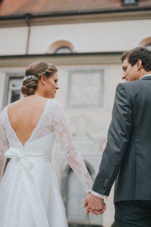 Brautkleid, Hochzeitskleid, Rückenfrei, Spitze, S/M, 36/38