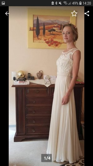 Vintage Vestido de novia crema