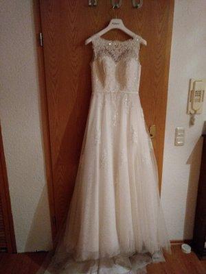 Brautkleid Hochzeitskleid Weise 38 ivory Rückenausschnitt
