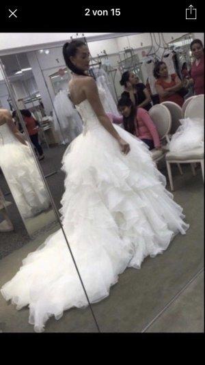 Brautkleid Hochzeitskleid xs s Vintage ivory korsage Kleid