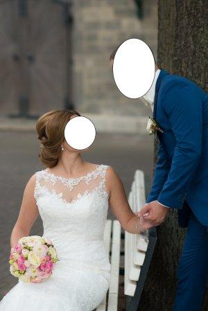Brautkleid im Meerjungfrau-Stil in Gr.40