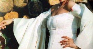 Brautkleid im Vintage Stiel Ivory 2 Tlg Corsage & Rock Gr 40