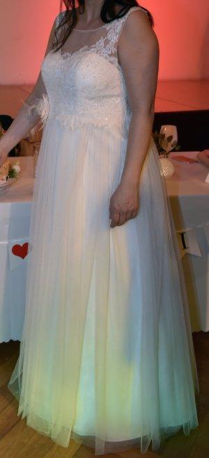 Brautkleid im Vintage Stil, inkl Reifrock, Gr.40/42