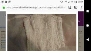 Brautkleid in ivory Gr 32