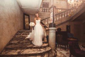 Brautkleid in Prinzessin-schnitt
