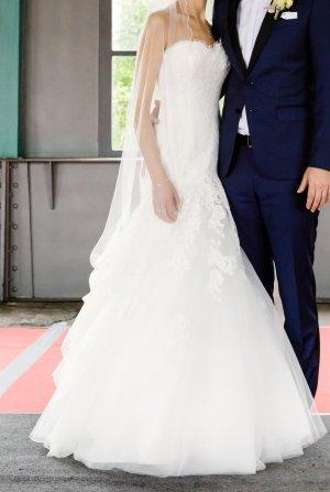 Vestido de novia blanco-blanco puro Poliéster