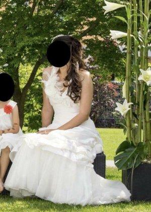 Weise Festmoden Abito da sposa bianco-bianco sporco