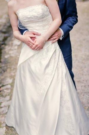 Brautkleid klassisch A-Linie Ivory Gr. 34 Anais Bridal