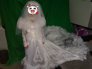 Bruidsjurk wolwit