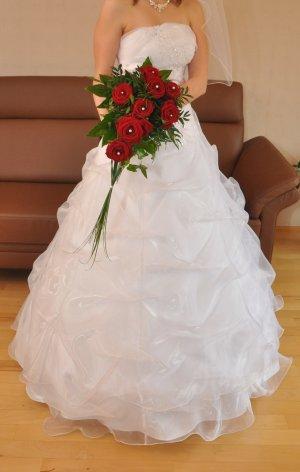 Brautkleid mit Corsage, Grösse34-38