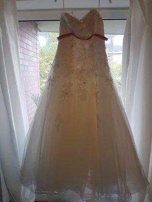 Wedding Dress natural white mixture fibre