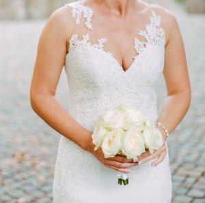 Brautkleid mit Schleppe und Tattoo-Spitze im Mermaid-Stil