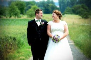 Brautkleid mit Tüll und Spitze von Calanthe