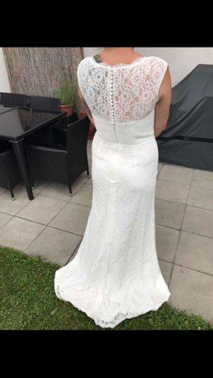 Brautkleid Neu - Farbe ivory - A Linie mit Spitze