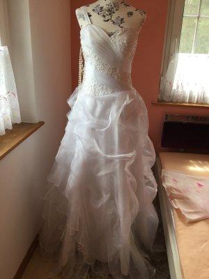 Vestido de novia blanco tejido mezclado