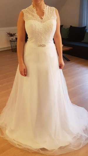 Fashion New York Wedding Dress white synthetic