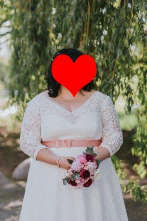 Vestido de novia blanco puro-blanco tejido mezclado