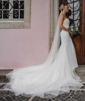 Brautkleid Pronovias Drimea Gr. 34 off white