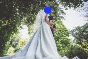 Brautkleid Pronovias Ivory Satin und Spitze