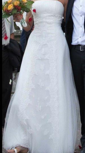 Brautkleid, Spitze u. Paillietten
