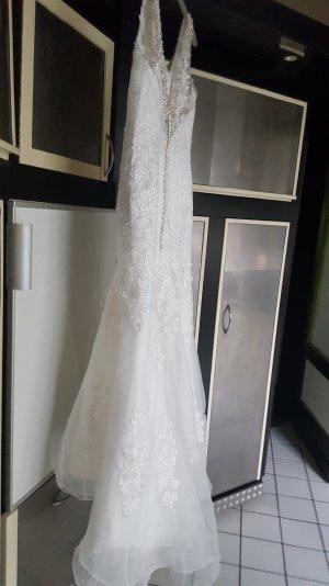Brautkleid Spitze und Tüll gr 40