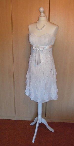 Brautkleid Standesamt Hochzeitskleid Cocktailkleid Kleid Magic Nights Gr. 38 NEU