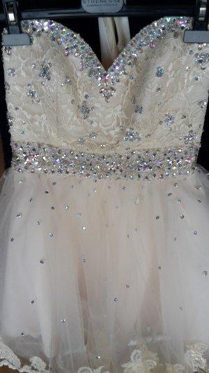 Brautkleid Standesamt Hochzeitskleid Spitze Tüll Prinzessin Pailletten