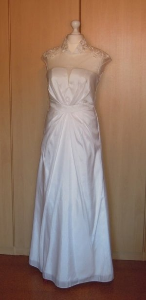 Wedding Dress natural white-cream polyester