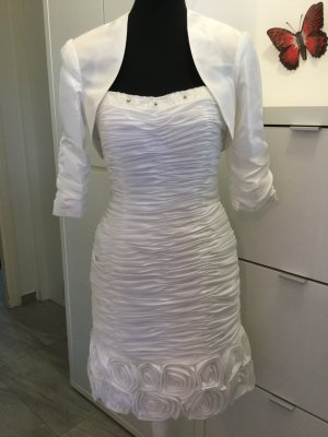 Wedding Dress natural white polyester