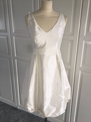 Robe de mariée blanc cassé soie