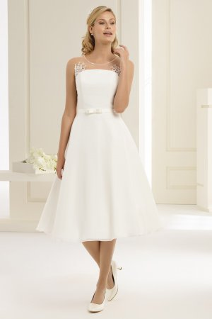 Brautkleid Standesamtkleid Hochzeitskleid Kurz ivory Gr. 38 NEU
