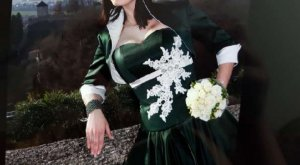 Brautkleid Standesamtkleid Trachtenpetticoat