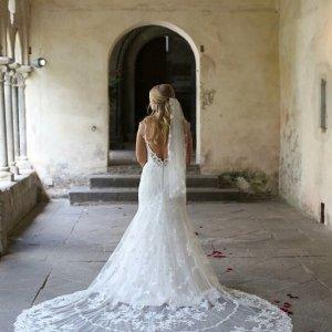 Brautkleid Stella York #Rückenfrei #Spitze #Schleppe #Vintage #Ivory