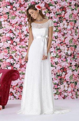 Très Chic Sartorial Vestido de novia blanco puro