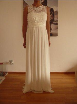 Brautkleid ungetragen, Farbe Ivory,Rückenausschnitt, Größe 34