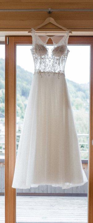 Sposa Toscana Vestido de novia multicolor tejido mezclado