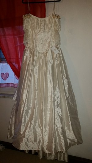 Agnes Wedding Dress oatmeal silk