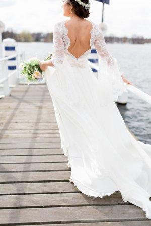 Brautkleid Vintage Extraanfertigung 34 elfenbein