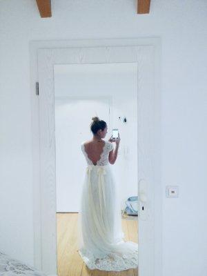 Robe de mariée blanc-blanc cassé
