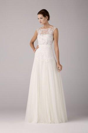 Brautkleid von Anna Kara in ivory, Spitze und Softtüll