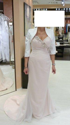 Vestido de novia rosa-blanco Seda