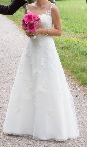 Vestido línea A blanco puro tejido mezclado