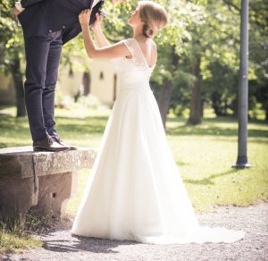 Brautkleid von Mode de Pol - Traumhaft -  Gr. 38