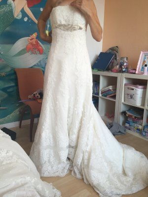 Pronovias Wedding Dress white mixture fibre